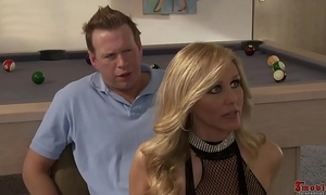 Sexy blond undress dirty slut wife three-some alexis texas and julia ann