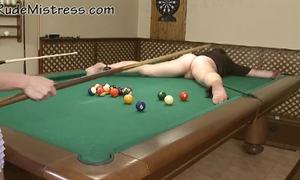 Nasty beauties shooting pool