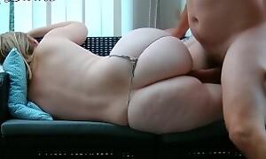 Big ass stepmom lets her virgin stepson fuck her!