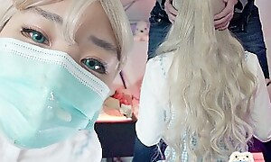 Blonde cosplay girl makes me Cum on her Face A lot !! and did not expect this Full Service...