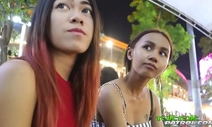 Super diminutive 18yo thai chick with bangkok bubble-butt butt rides tuktuk ft. song