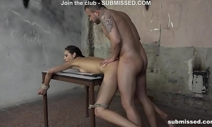 three of the most good struggling submissed women bound and screwed hardcore
